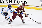 Ashley Norum (Maine - 4), Alex Carpenter (BC - 5) - The visiting University of Maine Black Bears defeated the Boston College Eagles 5-2 on Sunday, October 30, 2011, at Kelley Rink in Conte Forum in Chestnut Hill, Massachusetts.