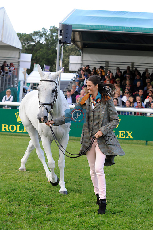 Stamford, Lincolnshire, United Kingdom, 4th September 2019, Kirsty Short (GB) & Cossan Lad during the 1st Horse Inspection of the 2019 Land Rover Burghley Horse Trials, Credit: Jonathan Clarke/JPC Images