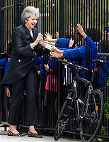 Prime Minister Theresa May Visiting the Dunraven School