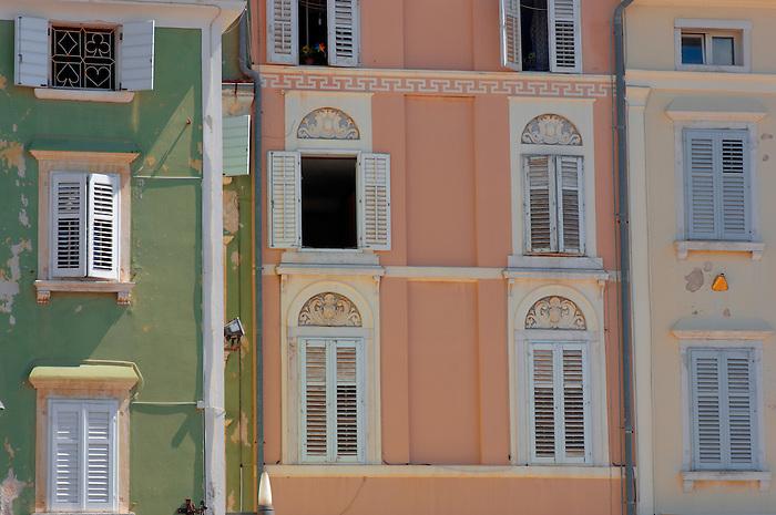 Window of a Venetican & Baroque house on Tartini Square. Piran , Slovenia