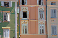 Window of a Venetican & Baroque house on Tartini Square. Piran , Slovenia