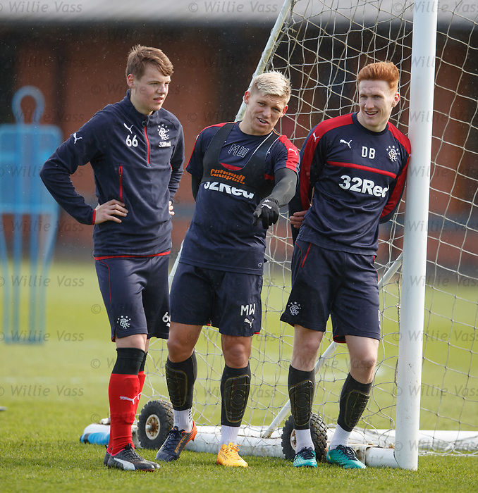 Lewis Mayo, Martyn Waghorn and David Bates