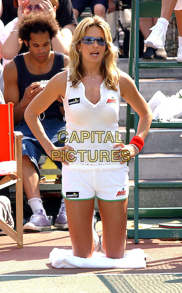 PENNY LANCASTER.Smashed Tennis Festival at City Tennis Club, Regents Patk.www.capitalpictures.com.sales@capitalpictures.com.©Capital Pictures.ball girl, career change, new job..half length, half-length