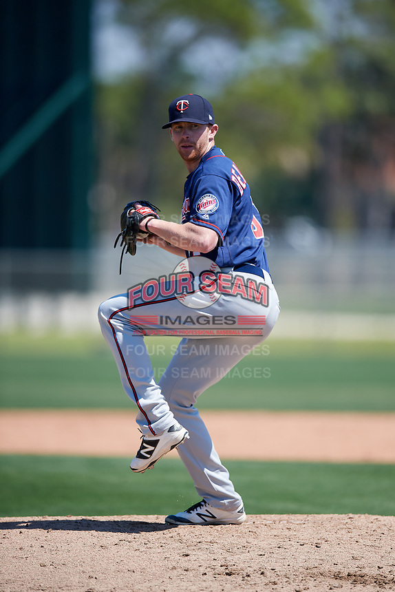 Minnesota Twins pitcher Tyler Beardsley (51) during a Minor League Spring Training game against the Tampa Bay Rays on March 15, 2018 at CenturyLink Sports Complex in Fort Myers, Florida.  (Mike Janes/Four Seam Images)