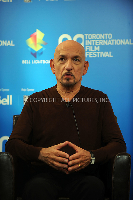 WWW.ACEPIXS.COM . . . . .....September 10, 2008. Toronto, Canada....Actor Sir Ben Kingsley attends the 'Fifty Dead Men Walking' Press Conference during the 2008 Toronto International Film Festival at the Sutton Place Hotel on September 10, 2008 in Toronto, Canada...  ....Please byline: Kristin Callahan - ACEPIXS.COM..... *** ***..Ace Pictures, Inc:  ..Philip Vaughan (646) 769 0430..e-mail: info@acepixs.com..web: http://www.acepixs.com