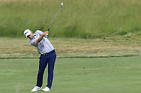 Bernd Wiesberger (AUT) plays his 2nd shot on the 5th hole during Friday's Round 2 of the 117th U.S. Open Championship 2017 held at Erin Hills, Erin, Wisconsin, USA. 16th June 2017.<br /> Picture: Eoin Clarke | Golffile<br /> <br /> <br /> All photos usage must carry mandatory copyright credit (&copy; Golffile | Eoin Clarke)