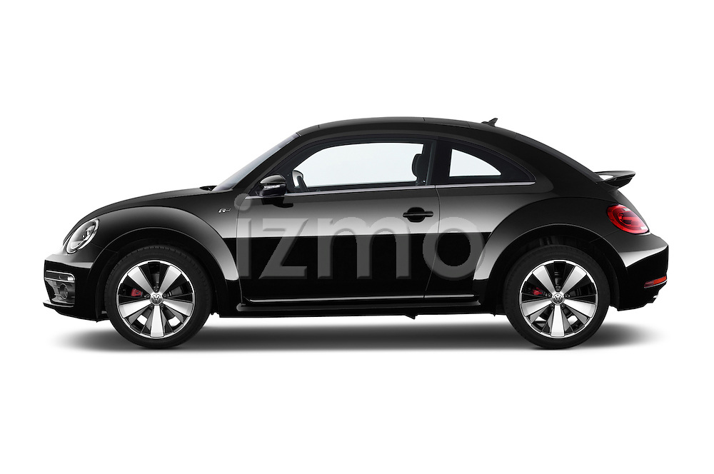 Driver side profile view of 2014 Volkswagen Beetle Sport R-Line 3 Door Hatchback 2WD Stock Photo