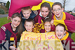 Our school children.have just one thing on.their minds this week -.Croke Park, said Paddy.Keane, a teacher at St..Bridgets NS in Duagh..The entire parish is.travelling and were all.keeping our fingers.crossed that we win..CHEERLEADERS: Duagh supporters Katelyn Dennehy, Kylie Walsh, Aaron OConnor, Margaret Walsh and Katie Ahern..