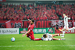 Sydney Wanderers Defender Haritz Borda (R) fights for the ball with Shanghai FC Forward Givanildo Vieira De Sousa (Hulk) (L) during the AFC Champions League 2017 Group F match between Shanghai SIPG FC (CHN) vs Western Sydney Wanderers (AUS) at the Shanghai Stadium on 28 February 2017 in Shanghai, China. Photo by Marcio Rodrigo Machado / Power Sport Images