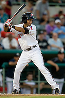 Frisco Roughriders second baseman Renny Osuna #13 at bat during the Texas League All Star Game played on June 29, 2011 at Nelson Wolff Stadium in San Antonio, Texas. The South All Star team defeated the North All Star team 3-2. (Andrew Woolley / Four Seam Images)
