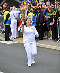 jodie evans torchbearer at the Olympic Torch Relay at MINI Plant Oxford on Monday 9th July 2012  Picture By: Brian Jordan / Retna Pictures.. ..-..