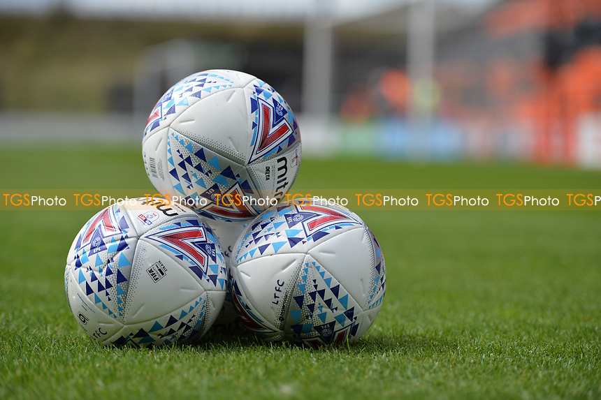 The balls during Barnet vs Luton Town, Sky Bet EFL League 2 Football at the Hive Stadium on 12th August 2017