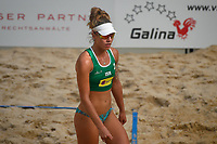 VADUZ, LIECHTENSTEIN, 10.08.2019- FIVB BEACH VOLLEYBALL WORLD TOUR: Anita Dave de Israel durante a partida das quartas de final a contar para o torneio FIVB Beach Volleyball World Tour Star1 na Beacharena, em Vaduz, Liechtenstein, nesse sabado 10. (Foto: Bruno de Carvalho / Brazil Photo Press)