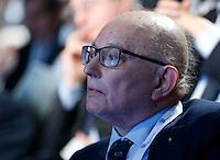 Giorgio Squinzi presidente di confindustria ,partecipa ad un convegno di Confindustria a Napoli