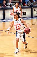 SAN ANTONIO, TX - FEBRUARY 24, 2006: The University of Texas at Arlington Mavericks vs. The University of Texas at San Antonio Roadrunners Women's Basketball at the UTSA Convocation Center. (Photo by Jeff Huehn)