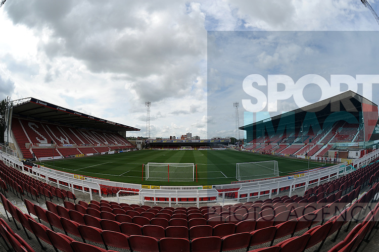 A general view of the County Ground, home stadium of Swindon Town FC<br /> - English League One - Swindon Town vs Sheffield Utd - County Ground Stadium - Swindon - England - 29th August 2015