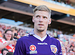 BRISBANE, AUSTRALIA - OCTOBER 30: Andy Keogh of the Glory enters the field during the round 4 Hyundai A-League match between the Brisbane Roar and Perth Glory at Suncorp Stadium on October 30, 2016 in Brisbane, Australia. (Photo by Patrick Kearney/Brisbane Roar)