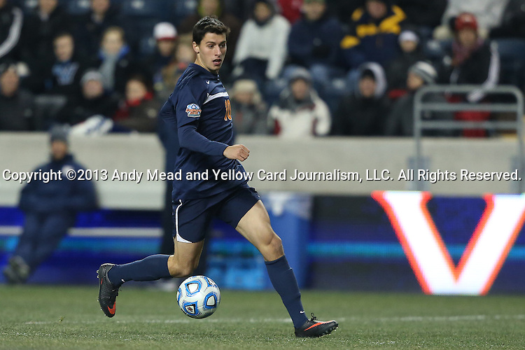 13 December 2013: Virginia's Nicko Corriveau. The University of Maryland Terripans played the University of Virginia Cavaliers at PPL Park in Chester, Pennsylvania in a 2013 NCAA Division I Men's College Cup semifinal match. Maryland won the game 2-1.