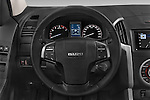 Car pictures of steering wheel view of a 2015 Isuzu D-Max LSX 4 Door Pickup 2WD Steering Wheel