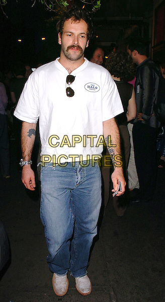 "JOHNNY LEE  MILLER.Attends the Press Night for play ""As You Like It"", Wyndhams Theatre, London, June 21st 2005..full length tattoo arm beard moustache scruffy jeans trainers.Ref: CAN.www.capitalpictures.com.sales@capitalpictures.com.©Can Nguyen/Capital Pictures"