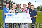 Joan McCarthy handing over a cheque to the Oncology Unit of Kerry General Hospital on Thursday. Joan has managed to raise over ?2,300 for the Oncology Unit. Pictured are, from left: Michelle Doolan (Staff nurse), Joan McCarthy, Pamela Walsh, Mary O'Connor, Doctor Jeffri Ismail and Teresa Walsh (Clinical Nurse Manager 2).