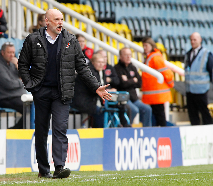 Fleetwood Town manager Uwe Rosler  urges his side forward<br /> <br /> Photographer David Shipman/CameraSport<br /> <br /> The EFL Sky Bet League One - Peterborough United v Fleetwood Town - Friday 14th April 2016 - ABAX Stadium  - Peterborough<br /> <br /> World Copyright &copy; 2017 CameraSport. All rights reserved. 43 Linden Ave. Countesthorpe. Leicester. England. LE8 5PG - Tel: +44 (0) 116 277 4147 - admin@camerasport.com - www.camerasport.com