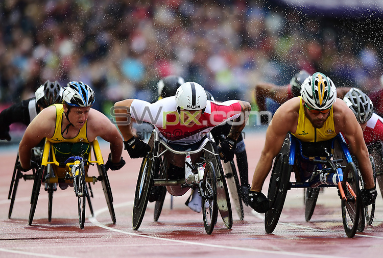Picture by Alex Broadway/SWpix.com - 31/07/2014 - 2014 Glasgow Commonwealth Games, Day 8 - Athletics - Hampden Park, Glasgow, Scotland - David Weir of England competes in the Men's 1500m T54 Final.