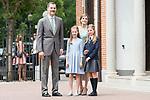 King Felipe VI, Princess Sofia, Queen Letizia and Princess Leonor during the First Communion of princess Sofia at Asuncion de Nuestra Senora Church in Madrid, May 17, 2017. Spain.<br /> (ALTERPHOTOS/BorjaB.Hojas)