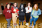 Trisha Nolan, Samantha Wadding, Rachel Dunne, Courtney Hartnett and Chloe Stewart dressed for fun at the Tralee Branch of the Irish Red Cross's Halloween party fundraiser for Temple Street Hospital in the KDL on Monday night.