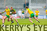 Johnny Buckley Kerry in action against Hugh McFadden Donegal in Division One of the National Football League at Austin Stack Park Tralee on Sunday.