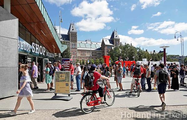 Nederland - Amsterdam - 2018.  Museumpleim.  Foto Berlinda van Dam / Hollandse Hoogte.