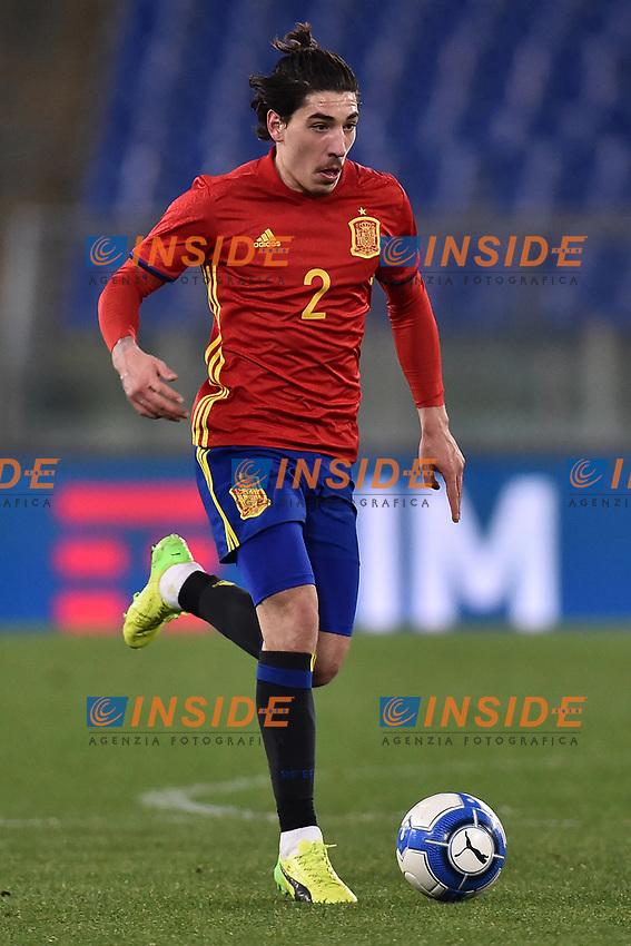 Hector Bellerin Spagna <br /> Roma 27-02-2017, Stadio Olimpico<br /> Football Friendly Match  <br /> Italy - Spain Under 21 Foto Andrea Staccioli Insidefoto