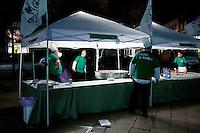Varese: un gazebo per la risottata organizzata dalla Lega Nord Varese per sostenere Roberto Maroni