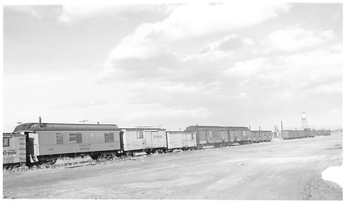Cars #0251, #04802, #04531, #122, and #60 in pickler yard.<br /> D&amp;RGW  Alamosa, CO  Taken by Richardson, Robert W. - 5/1/1949
