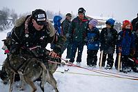 Vet Examines Kjetil Backen's Dogs at Kaltag<br /> 2004 Iditarod