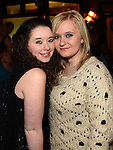 Aisling Nally and Lorna Byrne at the 'Bull Factor' final. Photo:Colin Bell/pressphotos.ie