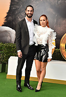 "WESTWOOD, CA - JANUARY 11: Seth Rollins (L) and Becky Lynch attend the Premiere of Universal Pictures' ""Dolittle"" at Regency Village Theatre on January 11, 2020 in Westwood, California.<br /> CAP/ROT/TM<br /> ©TM/ROT/Capital Pictures"