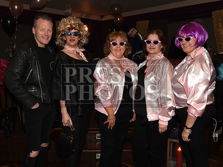 Brian and Rita Reid, Bernie Conway, Isabell Berrill, and Liz Phelan at the Oscars fancy dress party in Watters of Collonin aid of the Gary Kelly Cancer Support Centre.  Photo:Colin Bell/pressphotos.ie