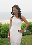 "CBS 2 News Report Hazel Sanchez attends ""Beach Glamour in the Hamptons, A Benefit Party for the RFL Museum"" at the Reginald F. Lewis Estate in East Hampton, New York, 6/26/10"