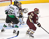 Travis Zajac, Cory Schneider, Stephen Gionta - The Boston College Eagles defeated the University of North Dakota Fighting Sioux 6-5 on Thursday, April 6, 2006, in the 2006 Frozen Four afternoon Semi-Final at the Bradley Center in Milwaukee, Wisconsin.