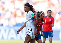 PARIS,  - JUNE 16: Jess McDonald #22 waits for a corner kick during a game between Chile and USWNT at Parc des Princes on June 16, 2019 in Paris, France.