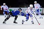 Uppsala 2013-11-13 Bandy Elitserien IK Sirius - IFK Kung&auml;lv :  <br /> Kung&auml;lv Mikael Lindberg i kamp om bollen med Sirius Max Eriksson <br /> (Foto: Kenta J&ouml;nsson) Nyckelord: