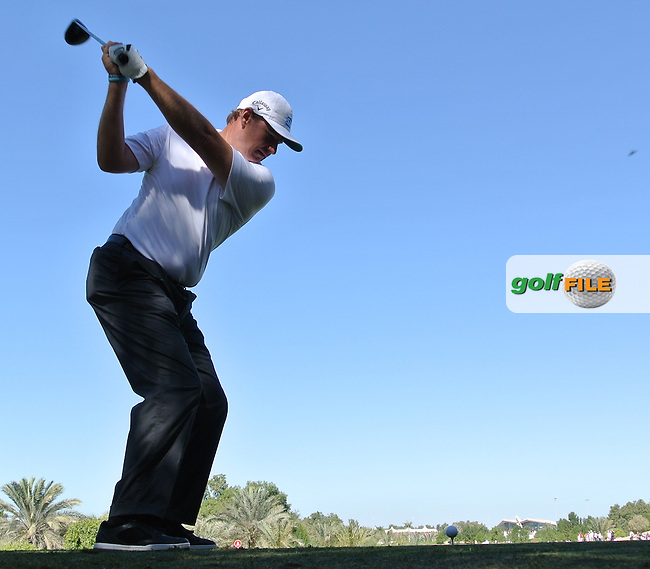 Ernie Els (RSA) on the 8th tee during the second round at the Abu Dhabi HSBC Golf Championship in the Abu Dhabi golf club, Abu Dhabi, UAE..Picture: Fran Caffrey/www.golffile.ie.