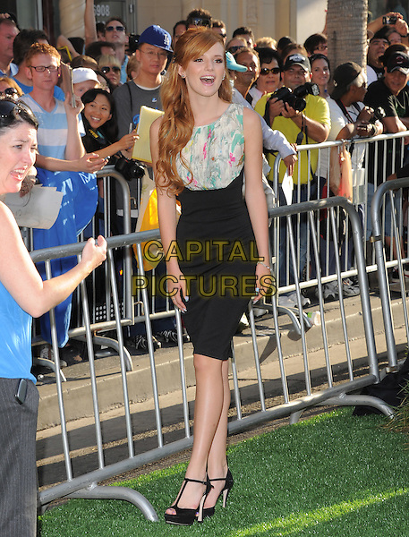 Bella Thorne.The World Premiere 'The Odd Life of Timothy Green' held at The El Capitan Theatre in Hollywood, California, USA..August 6th, 2012.full length black skirt dress sleeveless white green print top mouth open .CAP/RKE/DVS.©DVS/RockinExposures/Capital Pictures.