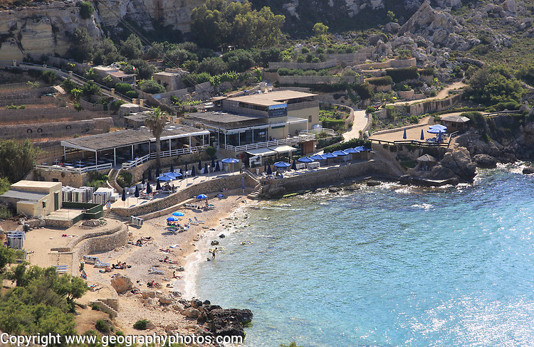 Beach at Paradise Bay, Marfa Peninsula, near Cirkewwa, Republic of Malta
