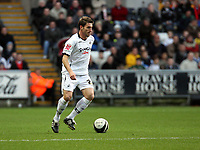Pictured: Angel Rangel of Swansea City in action<br />
