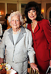 Barbara Bush and Betty Hrncir at the Salvation Army Women's Auxiliary Luncheon and Fashion Show at the River Oaks Country Club Tuesday April 13,2010. (Dave Rossman Photo)