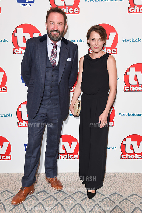 LONDON, UK. September 10, 2018: Lee Mack &amp; Sally Bretton at the TV Choice Awards 2018 at the Dorchester Hotel, London.<br /> Picture: Steve Vas/Featureflash