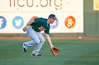 Siena Saints left fielder Alex Tuccio (20) during practice before a game against the Stetson Hatters on February 23, 2016 at Melching Field at Conrad Park in DeLand, Florida.  Stetson defeated Siena 5-3.  (Mike Janes/Four Seam Images)