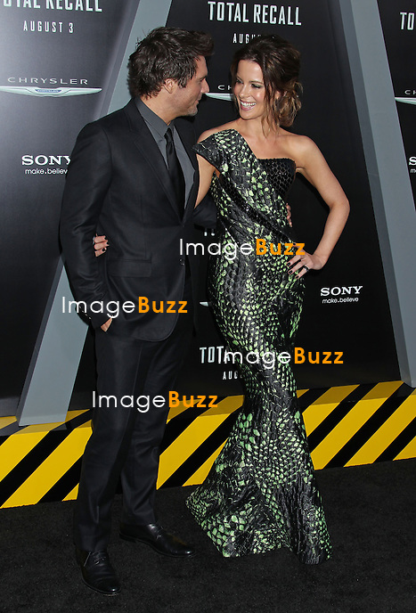 "Kate Beckinsale and Len Wiseman at the "" Total Recall "" movie premiere in Hollywood..Los Angeles, August 1, 2012."
